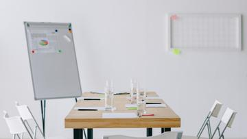 Modern white Office meeting room