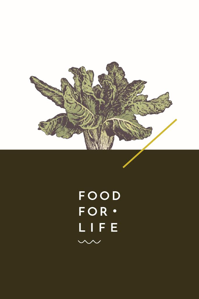 food for life poster with cabbage — Créer un visuel