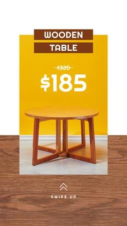 Modèle de visuel Special Wooden Table Offer - Instagram Story