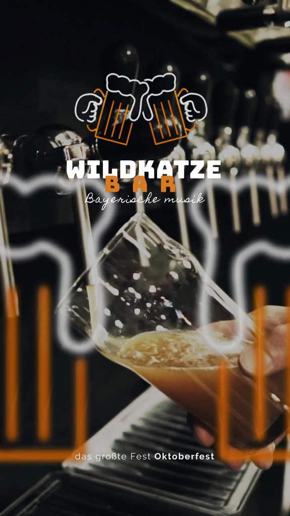 Oktoberfest Offer Pouring Beer in Glass Mug — Crear un diseño