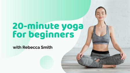 Template di design Yoga for Beginners Offer Youtube Thumbnail