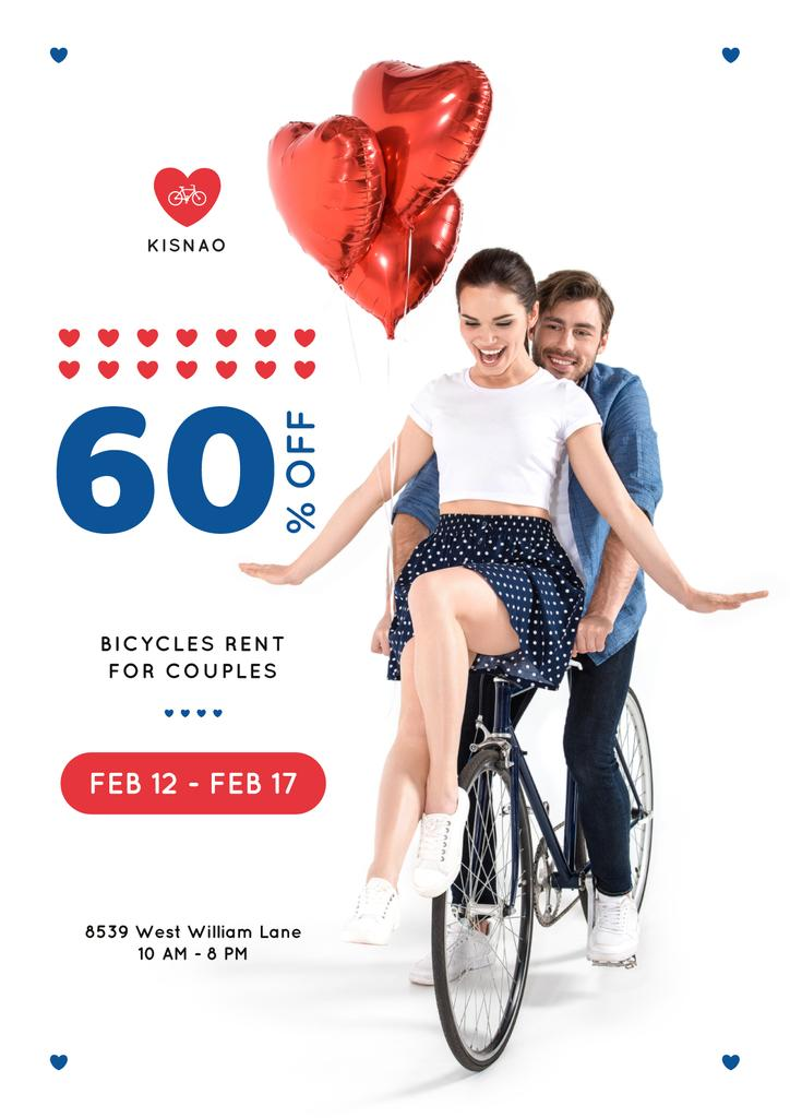 Valentine's Day Couple on a Rent Bicycle — Create a Design