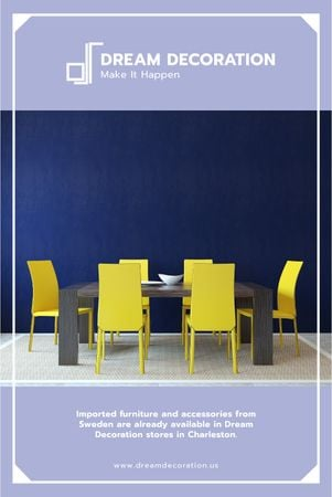 Design Studio Ad Kitchen Table in Yellow and Blue Tumblr Modelo de Design