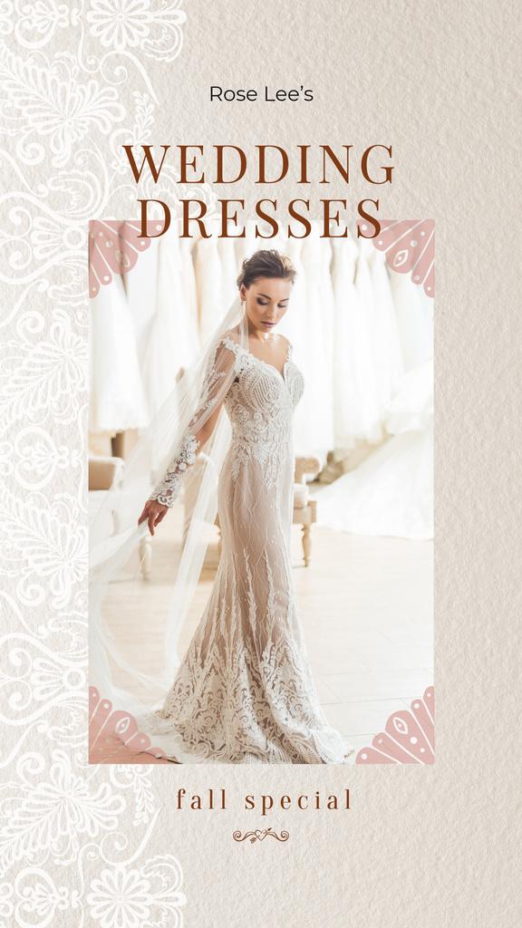Plantilla de diseño de Bride in white Wedding Dress Instagram Story