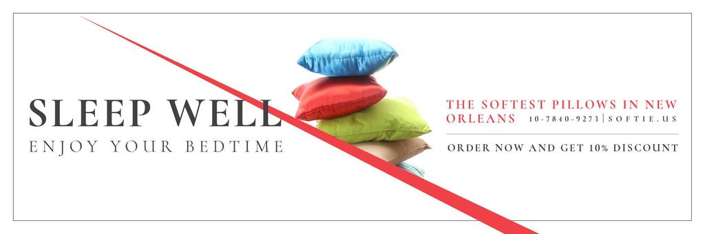 Pillows Sale Offer — ein Design erstellen