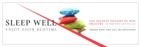 Ontwerpsjabloon van Email header van Pillows Sale Offer
