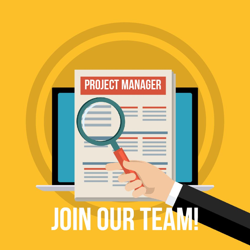 New Vacancies Project Manager — Crear un diseño