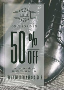 Male shoes sale poster