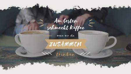 Template di design Cafeteria Advertisement with Hot Coffee Cups Full HD video