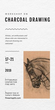 Template di design Drawing Workshop Announcement Horse Image Graphic