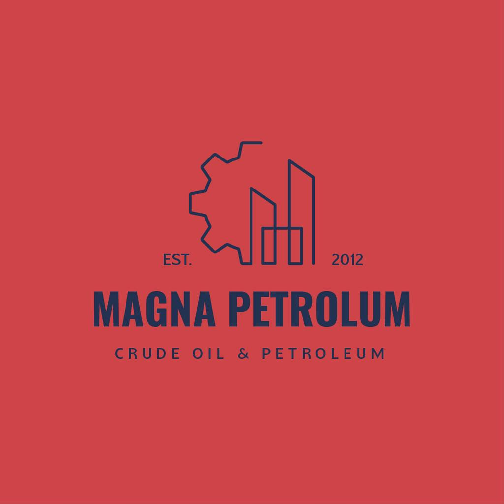 Petrol Transportation Industry Cogwheel Icon — Створити дизайн