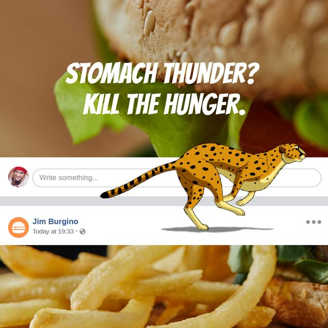 Template di design Fast Food Offer with French fries Animated Post