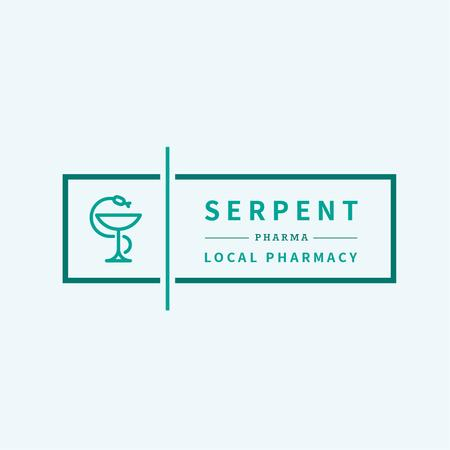 Template di design Pharmacy Promotion with Snake Icon Logo