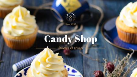 Plantilla de diseño de Candy shop Offer Presentation Wide
