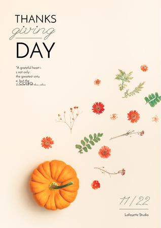 Template di design Thanksgiving feast concept Poster