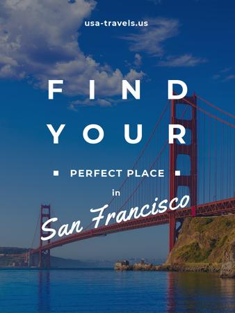 San Francisco Scenic Bridge View Poster USデザインテンプレート