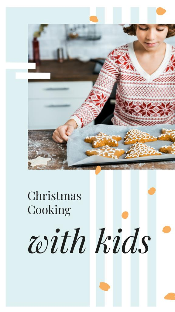 Girl with Christmas ginger cookies — ein Design erstellen