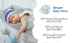 Baby Store Ad with Baby Sleeping