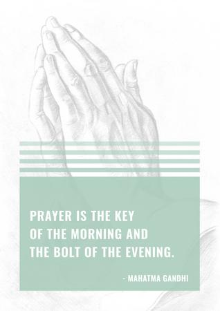 Religion citation about prayer Poster – шаблон для дизайна