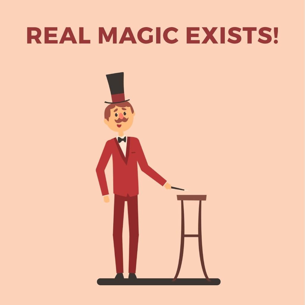 Magician performing on stage — Crear un diseño