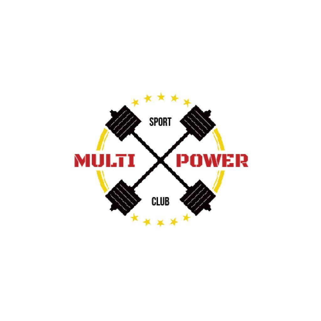 Sport Club Ad with Barbells Icon — Créer un visuel