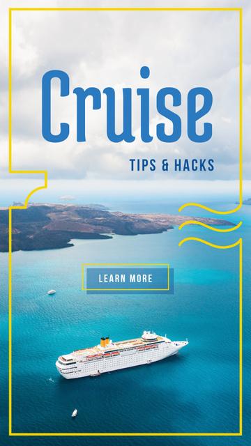 Ontwerpsjabloon van Instagram Story van Cruise ship in sea