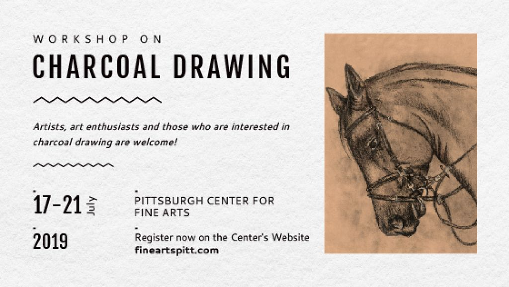 Drawing Workshop Announcement Horse Image — Створити дизайн