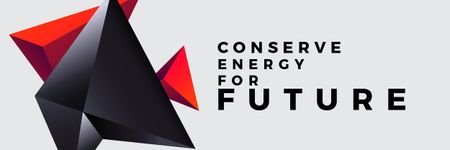 Ontwerpsjabloon van Email header van Concept of Conserve energy for future
