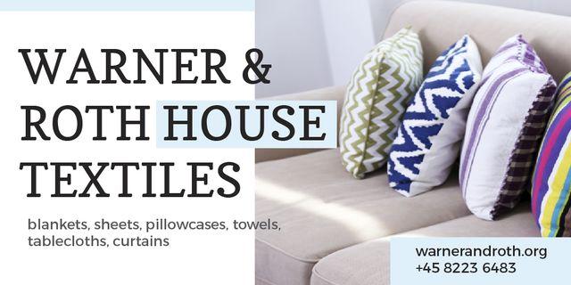 Designvorlage House Textiles Offer für Twitter