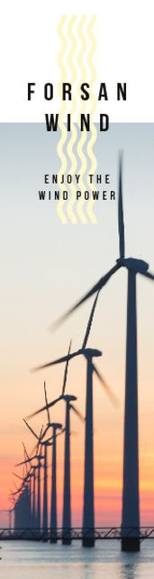 Renewable Energy Wind Turbines Farm Skyscraper Modelo de Design
