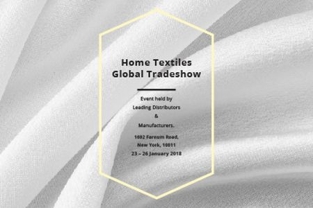 Template di design Home textiles global tradeshow Gift Certificate