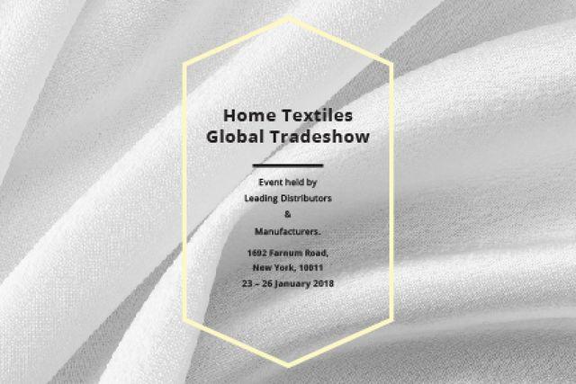 Ontwerpsjabloon van Gift Certificate van Home textiles global tradeshow