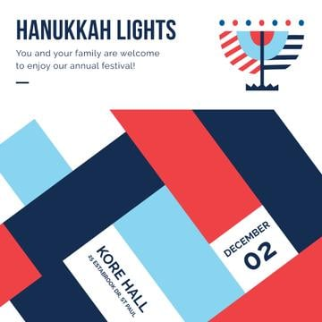 Happy Hanukkah celebration invitation