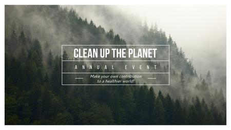 Template di design Ecological Event Announcement with Foggy Forest View Youtube