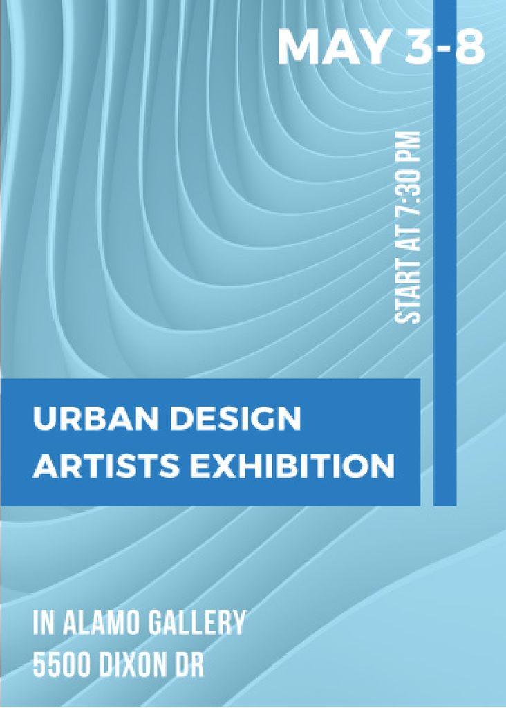 Plantilla de diseño de Urban design Artists Exhibition ad Flayer