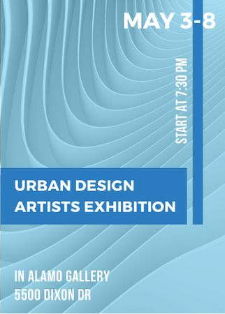 Plantilla de diseño de Urban design Artists Exhibition ad Flayer