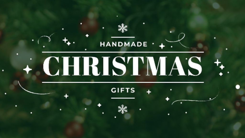 Christmas Gifts Ideas Decorated Tree Title – шаблон для дизайна