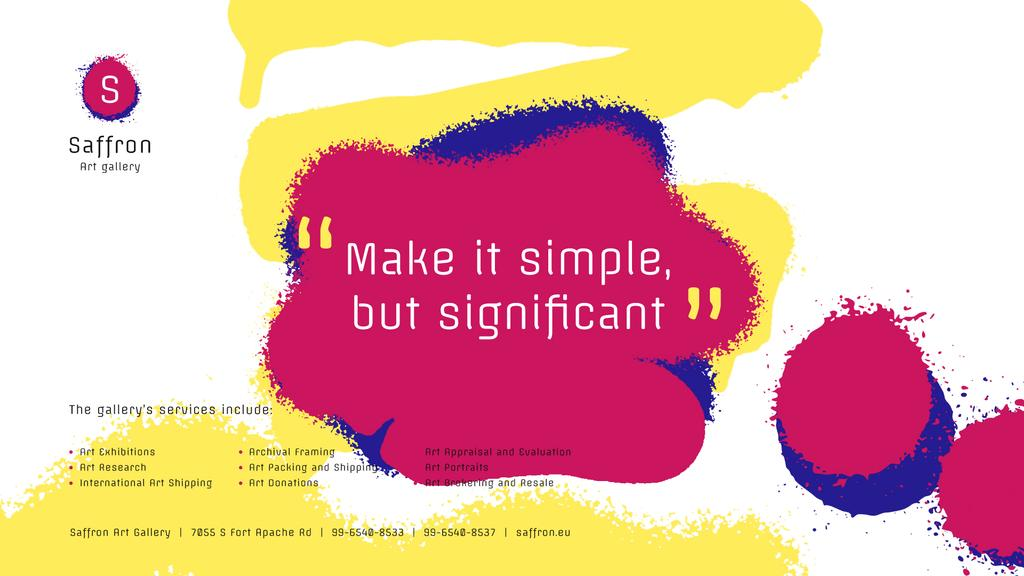 Art Quote on Sprayed Paint Background — Créer un visuel