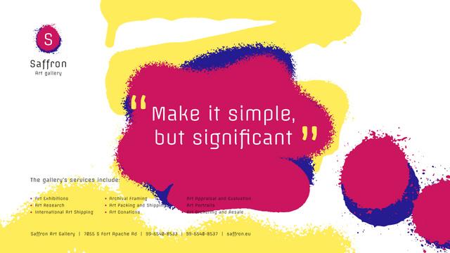 Designvorlage Art Quote on Sprayed Paint Background für Full HD video