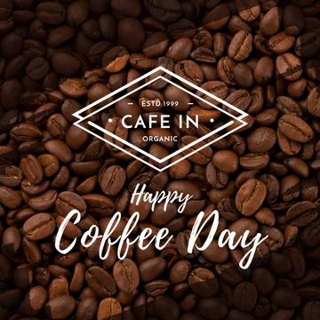 Happy coffee day poster