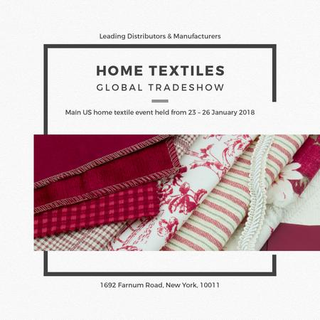 Designvorlage Home Textiles Event Announcement in Red für Instagram AD