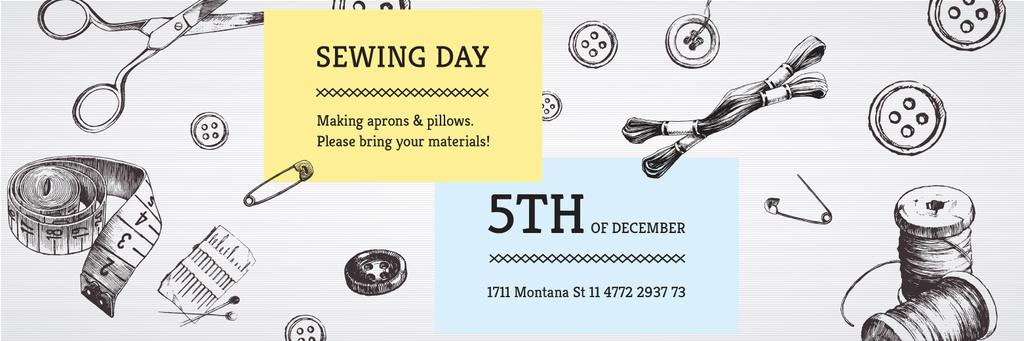 Sewing day event  — Modelo de projeto
