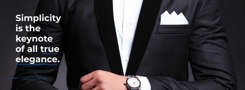 Fashion Quote with Man in Formal Suit — Créer un visuel