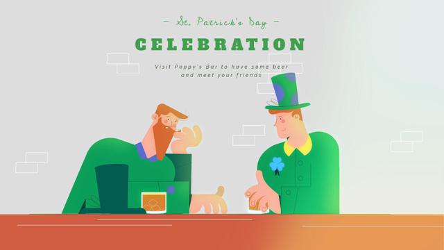 Celebrating Saint Patrick's Day Full HD video Modelo de Design