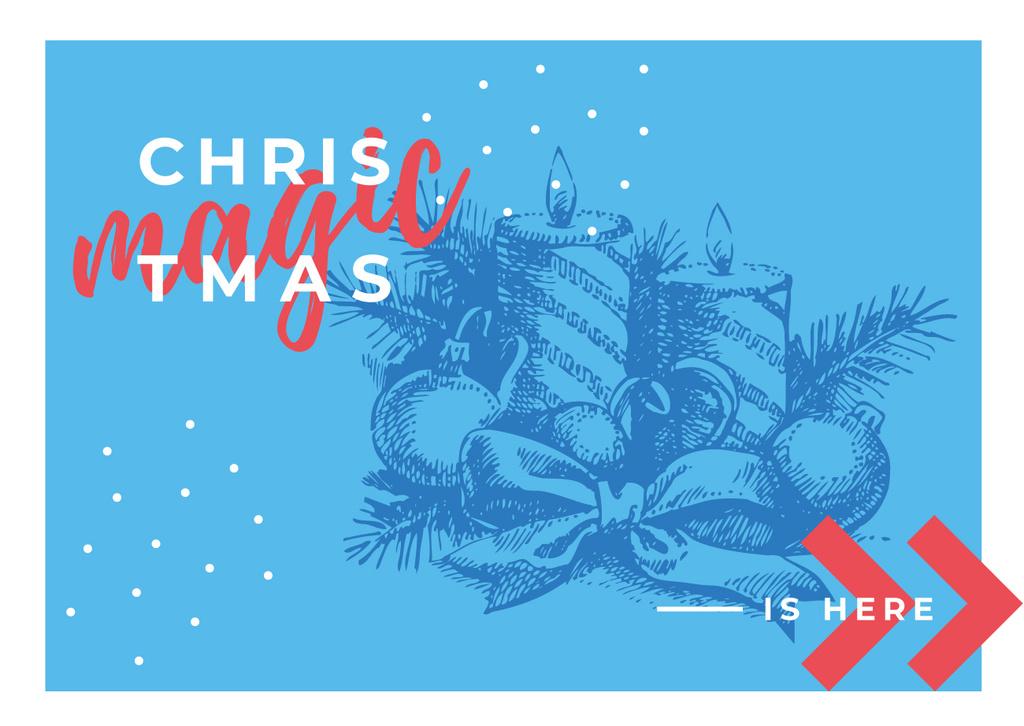 Traditional Christmas Decorations in Blue — ein Design erstellen