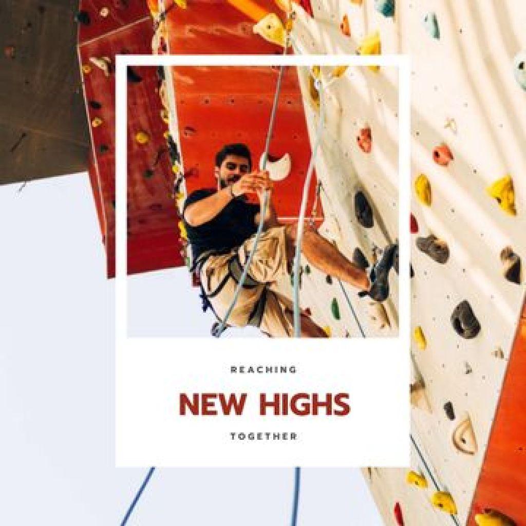 Man on Climbing Wall — Créer un visuel