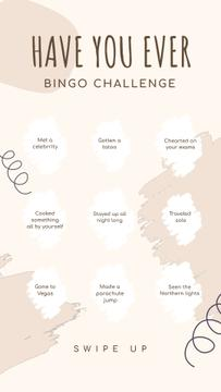 Bingo Have You Ever Challenge in pink