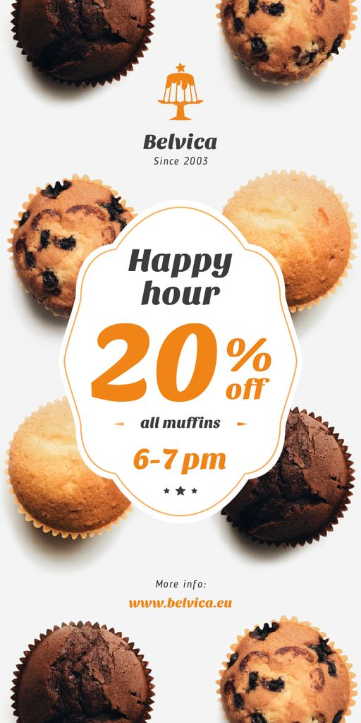 Happy Hour Sale Variety of Muffins | Blog Graphic Template — Modelo de projeto