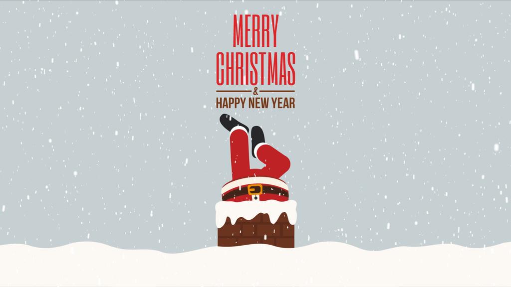 Santa stuck in chimney — Crear un diseño