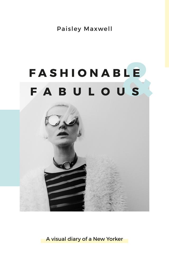Beautiful young girl in sunglasses — Maak een ontwerp